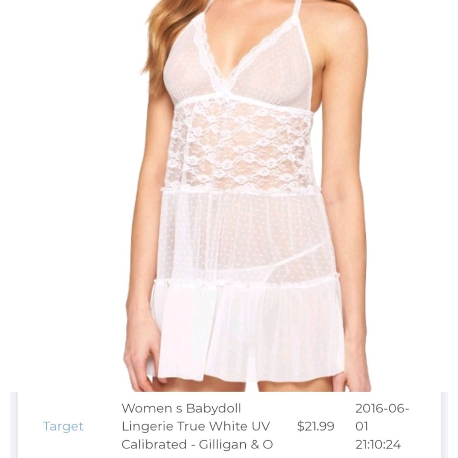 White lingerie size L but fits like a M