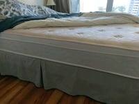 Queen white and gray bed mattress Toronto, M4X 1L1