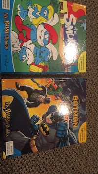 Brand new Smurfs or Batman! $13 each or $25 for the pair. Great books that include 12 figurines and a play mat. Great holiday or birthday gifts. We had many different ones and my children enjoyed these very much. These two are brand new! Vaughan, L4J 5L7