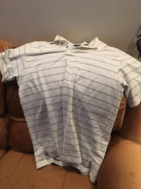 white and black striped polo shirt Rockville, 20850
