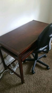 rectangular brown wooden table desk with one chair Goldsboro, 27534