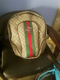 Brown and green gucci backpack Lawrenceville, 30043