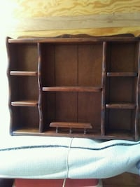 brown wooden 3-layer shelf Ocala, 34482