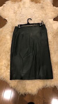 Leather pencil skirt, small size