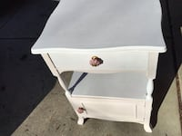 ALL WOOD END TABE / CABINET HAS DRAWER AND DOOR FOR STORAGE  Downers Grove, 60516