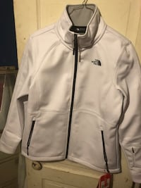 white and black Nike zip-up jacket San Angelo, 76903