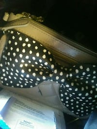 black and white polka dot print handbag Commerce City, 80022