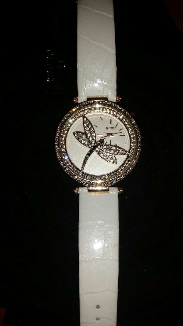 Nice Dragonfly Guou Ladies Watch W Crystal Accents