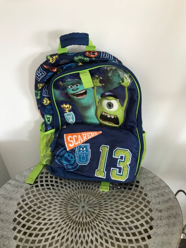 dd3938ada1 Used Disney Pixar Monsters Incorporated themed blue backpack for sale in  Bowling Green - letgo