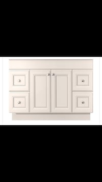 White wooden cabinet with drawer Cochrane, T4C 1C6