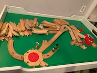 Activity train table with approximately 100 pieces.  Kensington, 20895