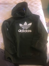 Black and white adidas pullover hoodie Orono, 04473