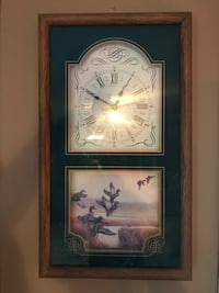Ingraham quartz Duck and wildlife clock