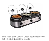 Triple slow cooker crock pot Kingsport, 37660