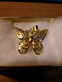 Gold plated butterfly pendant  Edmonton, T5S 2B4