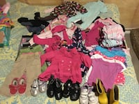 Toddler girl clothes and shoes 18-24 months and toddler size 5 shoes