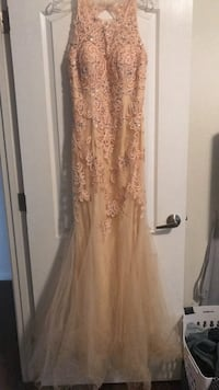 Woman's champagne/nude formal dress