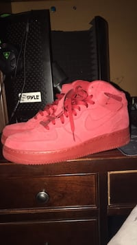 All Red Suede Nike Air Force 1 High Top Frederick, 21701