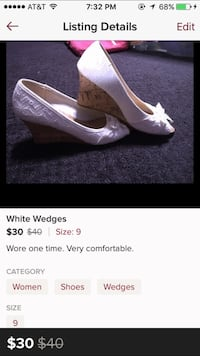 White and brown wedge Burrillville, 02839