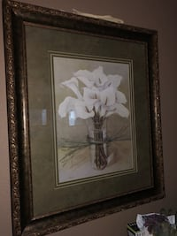 White and brown petaled flower painting Las Vegas, 89109