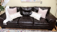 Faux leather wide sofa!