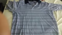 gray and black stripe polo shirt Houston, 77026