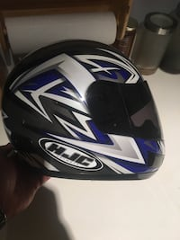 Black, white, and blue hjc full-face helmet xxl Columbia, 21045