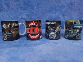 Snap-on Tool collectable coffee mugs Rat Rod / Hot Ros edition.