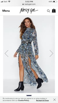 Floral maxi open back dress  Montréal, H1P 3N9