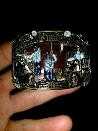 Over 30 year old fireman collectible belt buckle Joplin, 64804