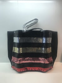 Victoria's Secret Multicolor Rainbow Sequin Tote Bag