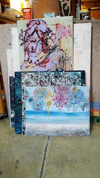 assorted abstract paintings Toronto, M6R 3C2