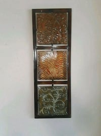 brown wall decor with frame