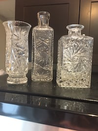 3 beautiful vases imported from Poland.  Stunning detailed crystal . Toronto, M1L 4S5