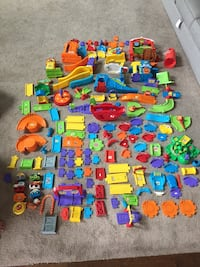 Several sets of vtech toys rc cars and trains Fishers, 46055