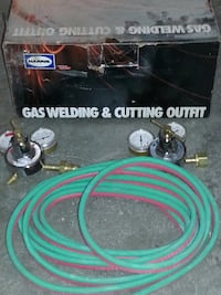 Gas welding hose and guages