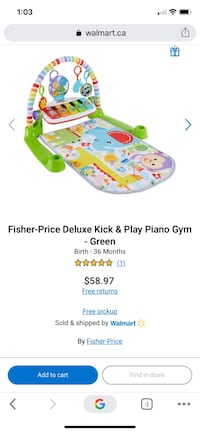 BNIB -Deluxe Kick and Play Piano Gym