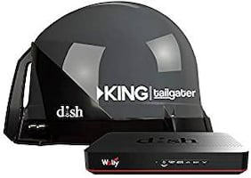 KING VQ4500-BO Tailgater Bundle - Portable Satellite TV Antenna and DISH Wally HD Receiver