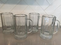 three clear glass beer mugs Houston, 77375