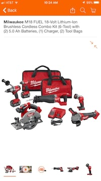 M18 Fuel 6-Tool Combo ( NEW in seal ) 2394 mi