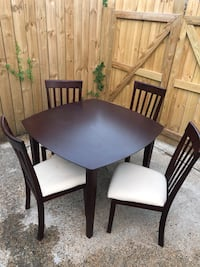 Small kitchen table and chairs. Chairs have a very little stains on them but can be cleaned.  Virginia Beach, 23462