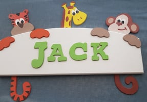 WOODEN NAME PLATE FOR DOOR