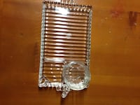 Glass luncheon/reception sets (1950's), 70 in stock.
