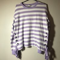 purple and white stripe scoop-neck sweater Moorpark, 93021