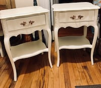 Pair of french Provincial white nightstands end tables  Kensington, 20895