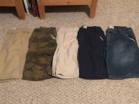 5 pairs of Boys The Children's Place Husky Shorts 10H Gardena, 90247