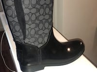 pair of black leather boots Beltsville, 20705