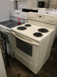 white 4-burner gas range oven Halethorpe, 21227