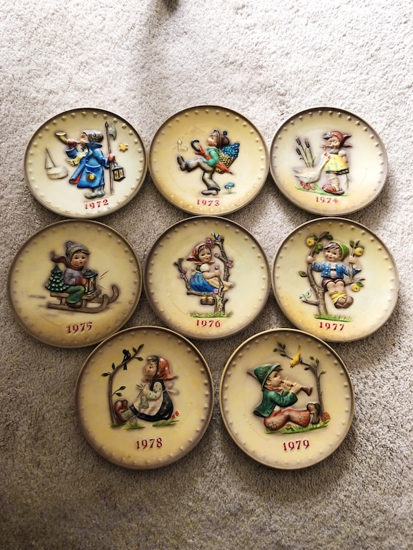 Hummel Plate collection 1972 - 1979