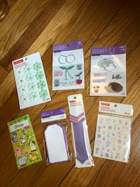 Clear stamps/stickers/tags/flowers
